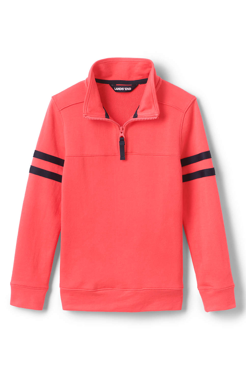 03a03096c Boys Half Zip French Terry Mock Neck Top from Lands' End