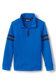 Boys Husky French Terry Mock Neck Top