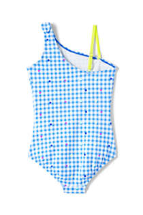 Girls Slim Tie Shoulder One Piece Swimsuit, Back