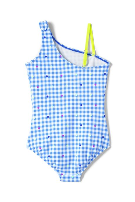 Girls Slim Tie Shoulder One Piece Swimsuit