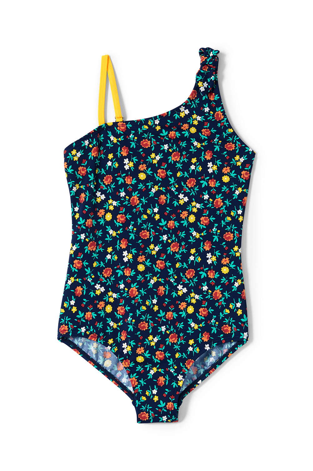 ec5b34703c Girls Tie Shoulder One Piece Swimsuit from Lands  End
