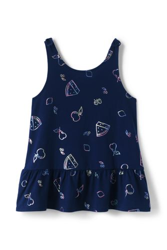 Girls Plus Tie Shoulder Pattern Tank Top