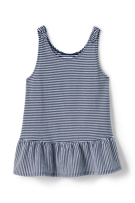 Girls Tie Shoulder Pattern Tank Top