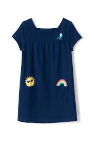 Little Girls Pocket Gathered Yoke Tunic Top
