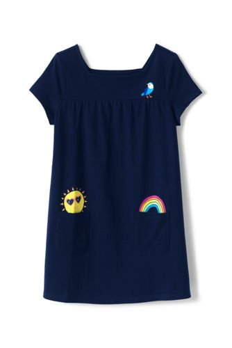 Girls' Short Sleeve Tunic Top With Fun Pockets