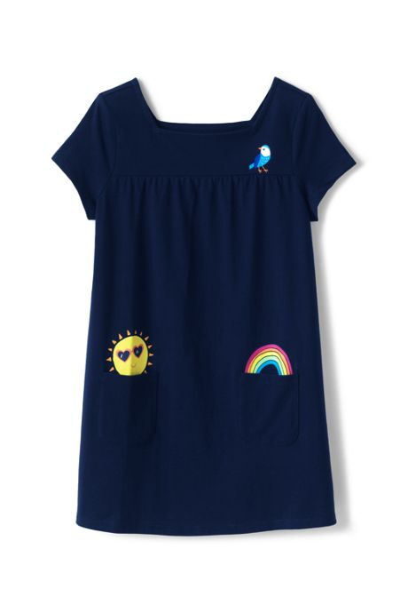 Girls Plus Pocket Gathered Yoke Tunic Top