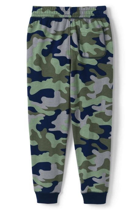 Boys Iron Knee Pattern French Terry Jogger Sweatpants