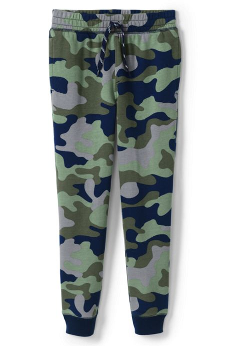 Boys Husky Iron Knee Pattern French Terry Jogger Sweatpants