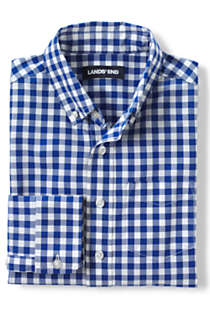 Boys Husky Button Down Poplin Shirt, alternative image