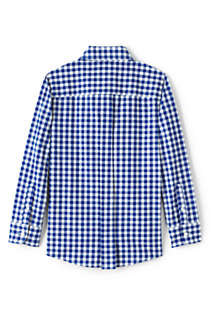 Boys Husky Button Down Poplin Shirt, Back