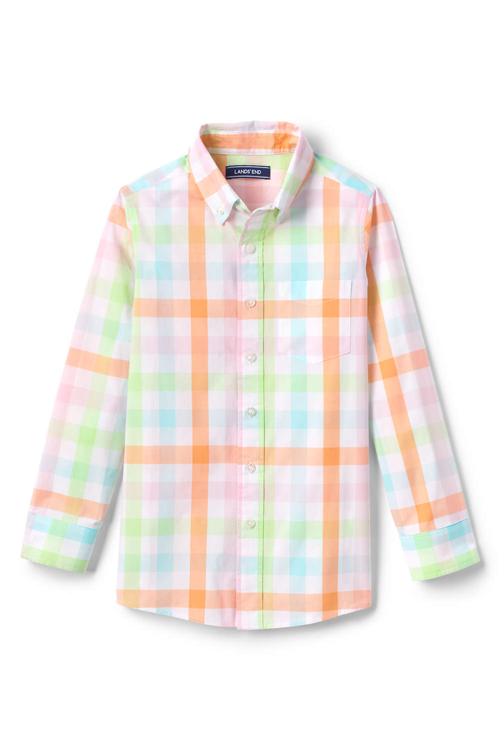 be48c365ac58b Boys Button Down Poplin Shirt from Lands  End