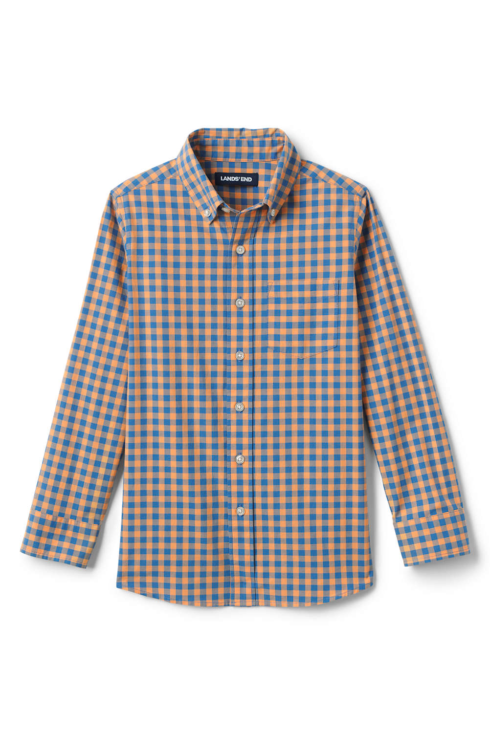 9f07ee6163656 Toddler Boys Button Down Poplin Shirt from Lands  End