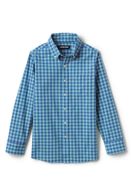 Boys Button Down Poplin Shirt