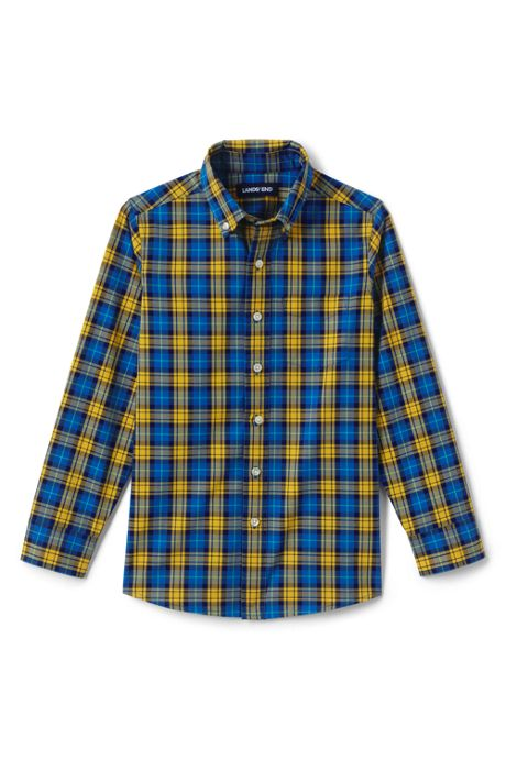 Boys Husky Button Down Poplin Shirt