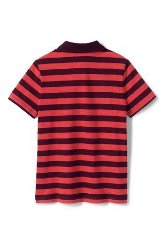Boys Stripe Slub Polo Shirt
