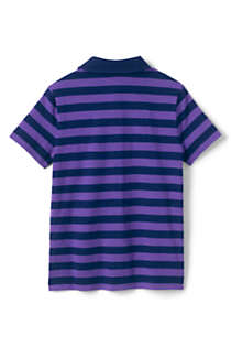 Boys Stripe Slub Polo Shirt, Back