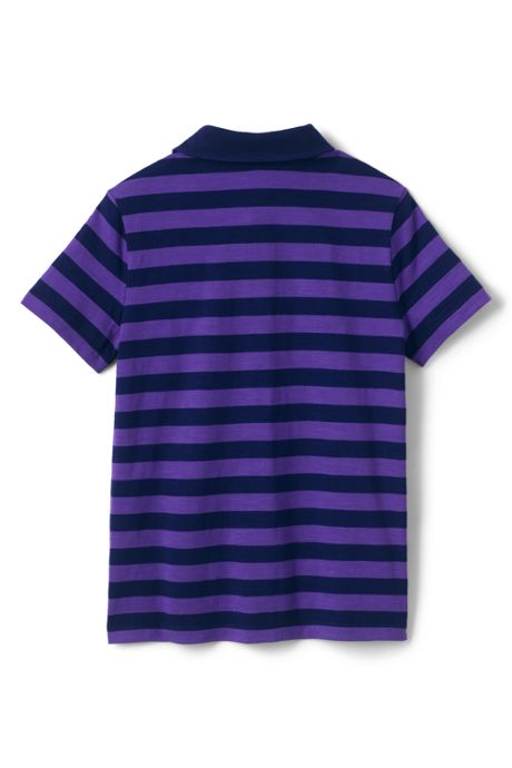 Toddler Boys Stripe Slub Polo Shirt