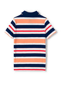 Little Boys Stripe Slub Polo Shirt, Back