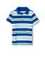 T-Shirt Polo en Jersey Rayé, Garçon