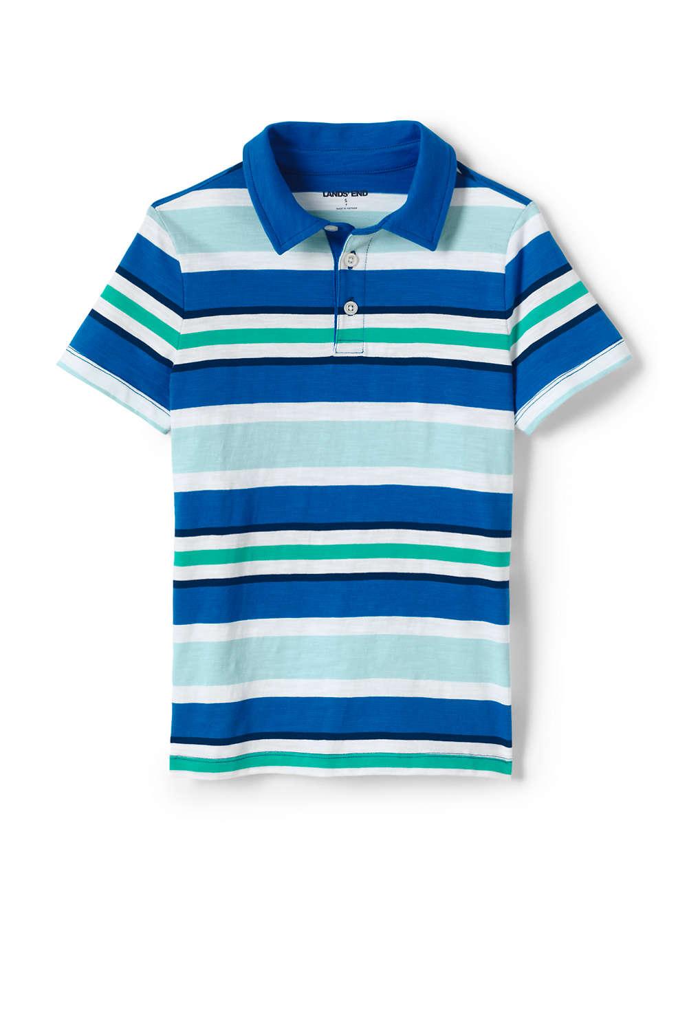 a660d42c663a70 Boys Stripe Slub Polo Shirt from Lands' End