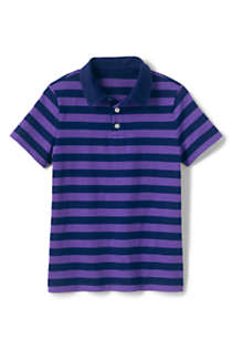 Boys Stripe Slub Polo Shirt, Front