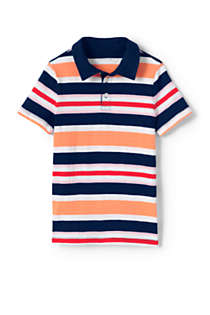 Little Boys Stripe Slub Polo Shirt, Front