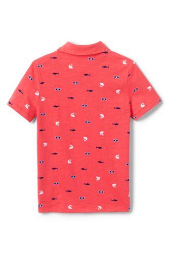 Boys Pattern Slub Polo Shirt