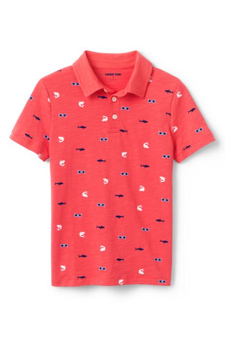 Toddler Boys Pattern Slub Polo Shirt