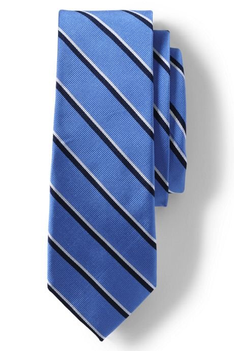 Men's Long Silk Double Bar Stripe Tie