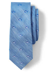 Men's Silk Linen Fish Tie