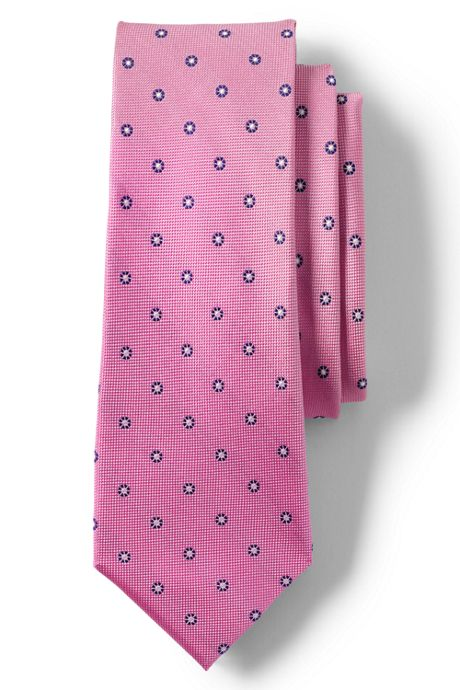 Men's Long Silk Texture Burst Neat Tie