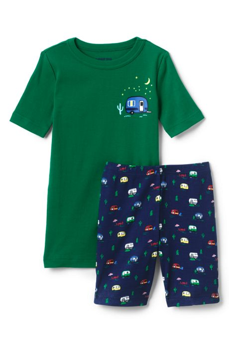 Toddler Boys Snug Fit Shorts Pajama Set
