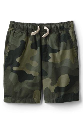 Short en Coton Motif Camouflage, Garçon