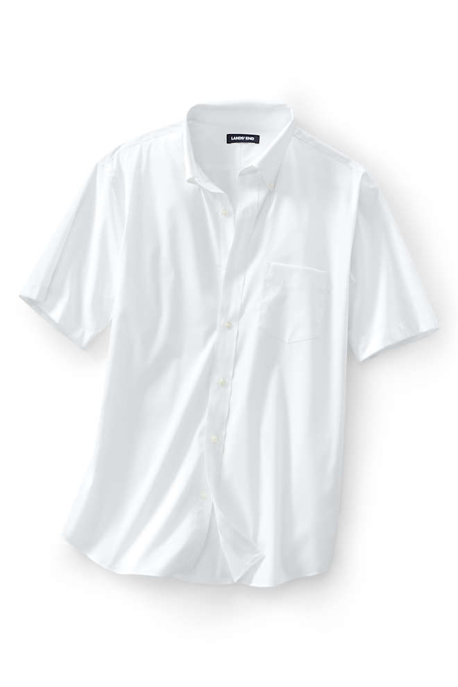 Men's Short Sleeve Traditional Fit Comfort-First Shirt with Coolmax, Front