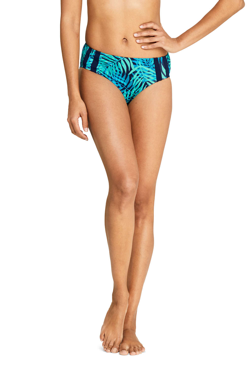 173d00f8cb2 Women's Chlorine Resistant Mid Waist Bikini Bottoms Print