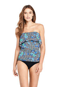 Women's Bandeau Tankini Top Swimsuit Print