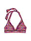 Women's Beach Living Print Halter Neck Bikini Top - D Cup
