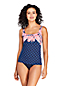 Women's D-Cup Beach Living Print Squareneck Tankini Top