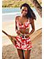Haut de Bikini Beach Living Twisté à Motifs, Femme Stature Standard