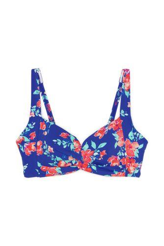 Women's Beach Living Print Twist Front Bikini Top