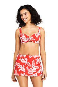 Women's Twist Front Underwire Bikini Top Swimsuit Print