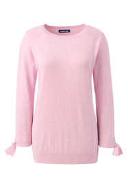 Women's Petite 3/4 Sleeve Cotton-Cashmere Ballet Neck Sweater