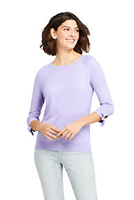a3b8caa36774 Women s 3 4 Sleeve Cotton-Cashmere Ballet Neck Sweater