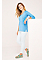 Women's Raglan Sleeve V-neck Slub Tunic