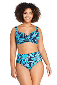 Women's Plus Size Twist Front Underwire Bikini Top Swimsuit Print