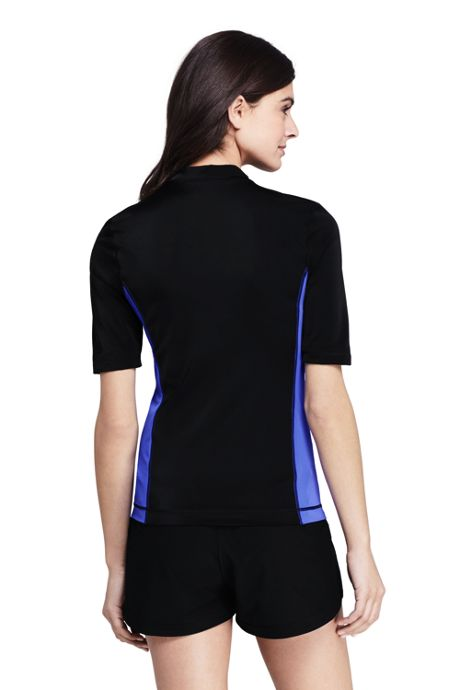 Women's Half Sleeve Full Zip Rash Guard