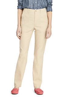 Women's Stretch Linen Mix Trousers