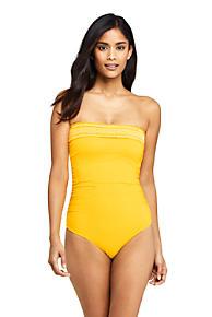 121046ece1e Women's Smocked Bandeau One Piece Swimsuit