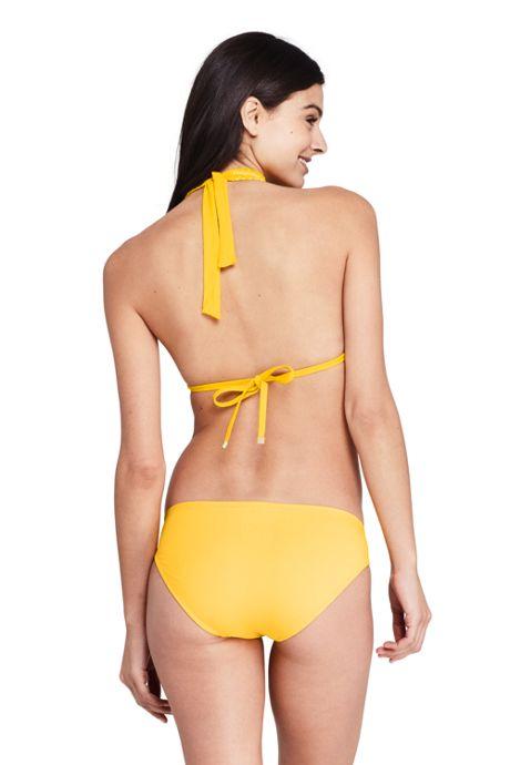 Women's Smocked Halter Bikini Top Swimsuit