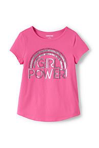 9373ffe675d Girls Foil Curved Hem Graphic Tee Shirt